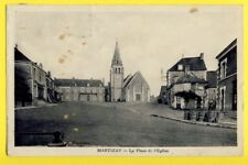 Carte Postale MARTIZAY Indre La Place de l'EGLISE Pompe à Essence Barils Fûts