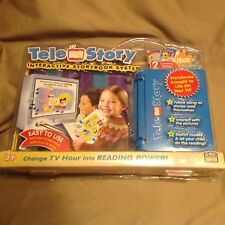 Tele Story Interactive Storybook System 4 Stories- 2 SpongeBob and 2 Lion King