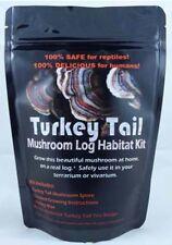 TurkeyTail Mushroom Log Habitat Kit For Terrariums Vivarium Medicinal Easy Fun!