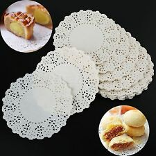 140X Paper Doilies 4.5 Inch Round Hollow Lace Paper Doily Cake Pad Wedding Décor
