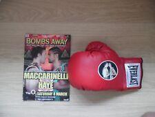 Boxing Glove & Programme Maccarinelli V Haye
