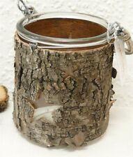 Deko-Windlichter aus Holz mit Stern-Schliffform