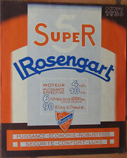 785 : ROSENGART . 1 X DEPLIANT PUBLICITAIRE : 21 X 25,5 CM + 1 X TARIF . 1936 .