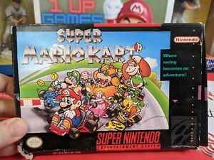Super Nintendo Super Mario Kart complete in box