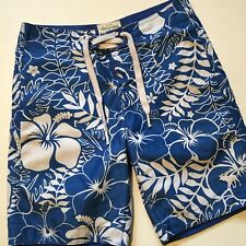 Abercrombie & Fitch board shorts men Small  31X8.5 Hawaiian blue and white