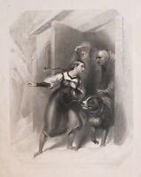 1837 Estampado Switzerland Findens Tableaux Nacional Personaje & Traje
