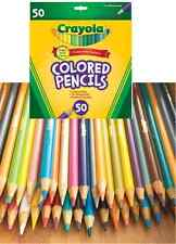 50 pc Crayola COLORED PENCILS SET Pre-sharpened Coloring Drawing Sketching