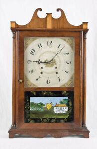 Bishop & Bradley pillar & scroll shelf clock @ 1820  Project