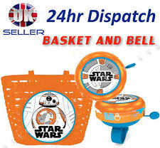 STAR WARS Boys Kids  Bike Cycle Shopping Front BASKET and BELL Ring Alarm