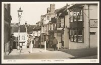 Hampshire. Lymington. Quay Hill. Sign to Station & Car Ferry Real Photo Postcard