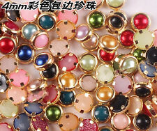 200 Pcs Cute 3D Nail Art Decor Bling Pearl Charm Glitter Tips DIY 4mm Jewelry