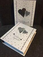 LUXURY WEDDING PLANNER BOOK & ORGANIZER Silver Hearts -ENGAGEMENT Bride gift