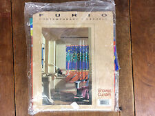 NOS Vintage 80s 90s Shower Curtain Beach Tiki Palm Florida California Hawaii