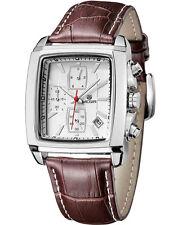 Quartz Chronograph MEGIR Mens Business Casual Watch Leather Wrist Formal Fashion