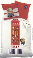 Minions Bettwäsche Hello London Telefonzelle 135 x 200 cm Baumwolle m. RV