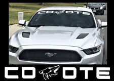 COYOTE Windshield Banner Fits Ford Mustang Vinyl Decal Sticker White Red Blue
