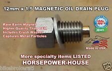12mm MAGNETIC OIL PAN DRAIN PLUG EQUIVALENT FOR HONDA PART 90131-896-650 MANY ++