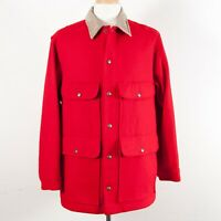 Pendleton Vintage Outdoors Man 100% Wool Cruiser Cape Coat Field Jacket Men's L
