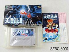 Complete Tenchi Souzou Terranigma Super Famicom Japanese Import SFC US Seller C