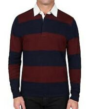 slate & stone Mens Sweater rugby red blue strip Pullover XL $158 b12 dd