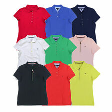 Tommy Hilfiger Womens Polo Shirt Mesh Collared Top Casual Blouse Solid New Nwt