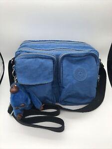 Kipling Nathalie True Blue Small Crossbody/Shoulder Bag with Keychain