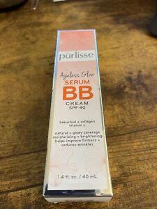 NIB Purlisse Ageless Glow Serum BB Cream SPF 40, Light 1.4 fl oz
