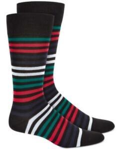 MSRP $10 AlfaTech by Alfani Men's Striped Dress Socks Size One Size