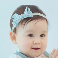 Elastic Bowknot Baby Girl Infant Hair Accessories Headband Hairband Headwear