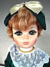"Vintage 1966 Doll 23"" Glamour Girl PM Sales orig dress Cats Eye RARE RED HAIR"