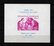 Belgisch Congo Belge Rwanda n° BL66 MNH Imperf. MS Paintings Christmas c17.50Eu