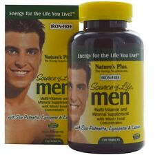 Nature's Plus, Source of Life, Men, Multi-Vitamin and Mineral Supplement, Iron-F
