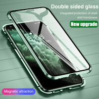 For iPhone 11 Pro Max XS XR X 360 Magnetic Adsorption Tempered Glass Case Cover