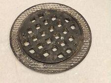 "Heavy 16"" Antique Industrial Floor Drain Grille Vent Old Vtg Hardware 648-16"