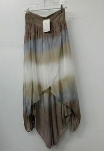 Made in Italy Silk Layered Taupe Ombre Pants WITH TAGS