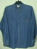 "Disney Store Mens Cotton Denim Shirt ""Tigger Embroidered on Back"" 2XL"