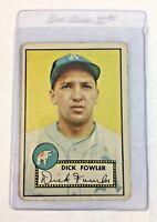 1952 Topps #210 Dick Fowler Baseball Card