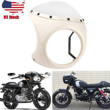 7'' Motorcycle Headlight Retro Cafe Racer Style Handlebar Fairing ABS Universal