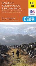 OL18 Harlech Porthmadog Bala Ordnance Survey Explorer Map OL 18