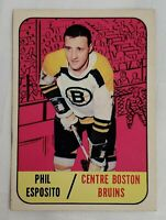 1967 - 1968 PHIL ESPOSITO TOPPS HOCKEY CARD ORIGINAL NHL HOCKEY #32 BOSTON BRUIN