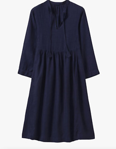 Toast Garment Dye Linen Dress, Blue Size XS New With Tags