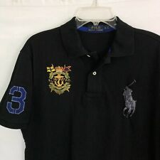 Ralph Lauren Polo Shirt Marine Supply Crest Big Pony Fit Large
