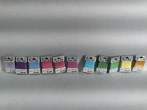 66 Brucilla  Pure Silk  Ribbon For Ribbon Embroidery 6 of each color pictured.