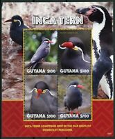 Guyana 2019 MNH Inca Tern 4v M/S Terns Birds Stamps