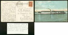 "Russia 1924 card NIZNY-ASTRAKHAN steamer ""Nekrassov"""