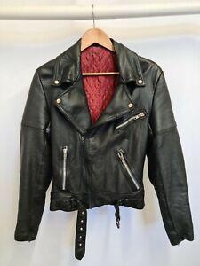 Vintage 70's Three Star Leather BRANDO Motorcycle Jacket XXS