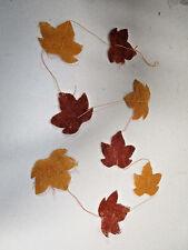 Deko Sisal Herbstblatt Girlande Herbstblätter Herbst Herbstdeko Tischdeko Blatt