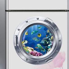 AU STOCK Ocean Fish Submarine Wall Sticker 3D Mural Vinyl Art Decals Home Decor