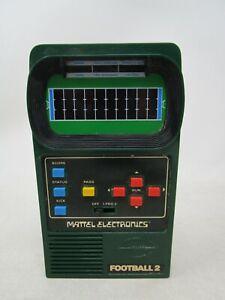 Vintage 1978 Mattel Electronics *FOOTBALL 2* HANDHELD GAME  (WORKS)