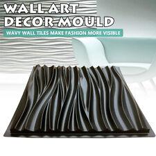 Wall Stone Mold Concrete 3D Tile Panels Form Plaster Art Decor Moulds Slip Kits